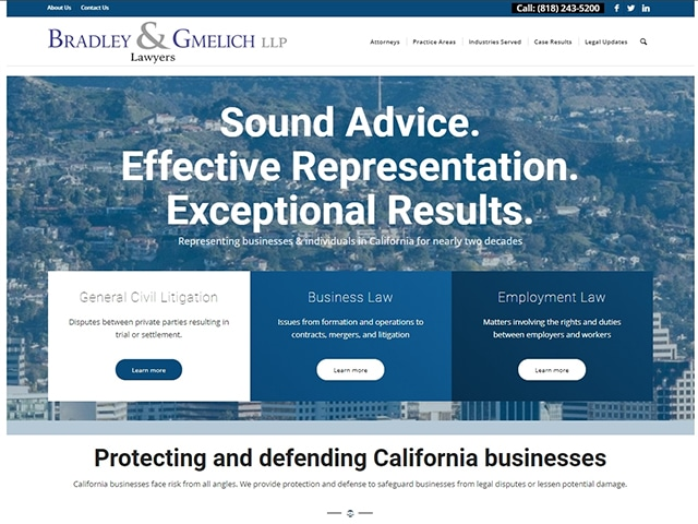 Bradley & Gmelich Website