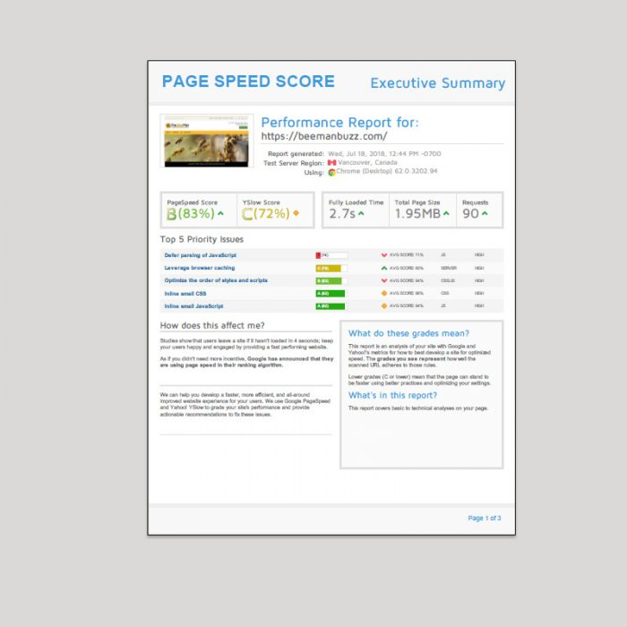 Emarcom Website Performance Review Report Screenshot - p11