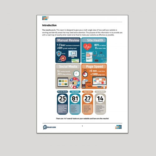 Emarcom Website Performance Review Report Screenshot - p2